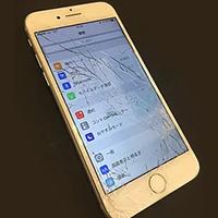 府中市からのお客様 iPhone7(アイフォン7)ガラス割れによるフロントパネル交換修理