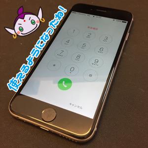 立川市からのお客様 iPhone6(アイフォン6)お風呂へ水没修理