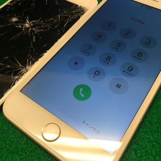 日野市からのお客様 iPhone6Plus(アイフォン6プラス)画面が割れた。これって重度破損?