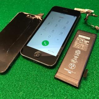 昭島市からのお客様 iPhone5(アイフォン5)ガラス割れ・バッテリー・マナースイッチ交換修理