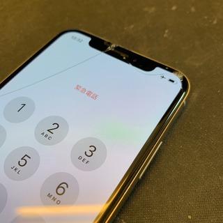 福生市からのお客様 iPhoneX(アイフォンX)ガラス割れ交換修理+ガラスコーティング