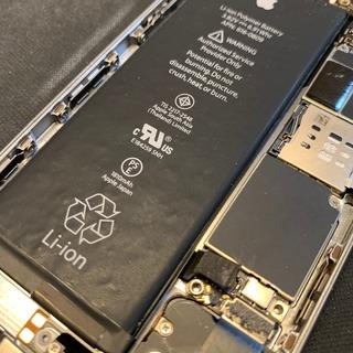 八王子市からのお客様 iPhone6(アイフォン6)バッテリー劣化による充電不良