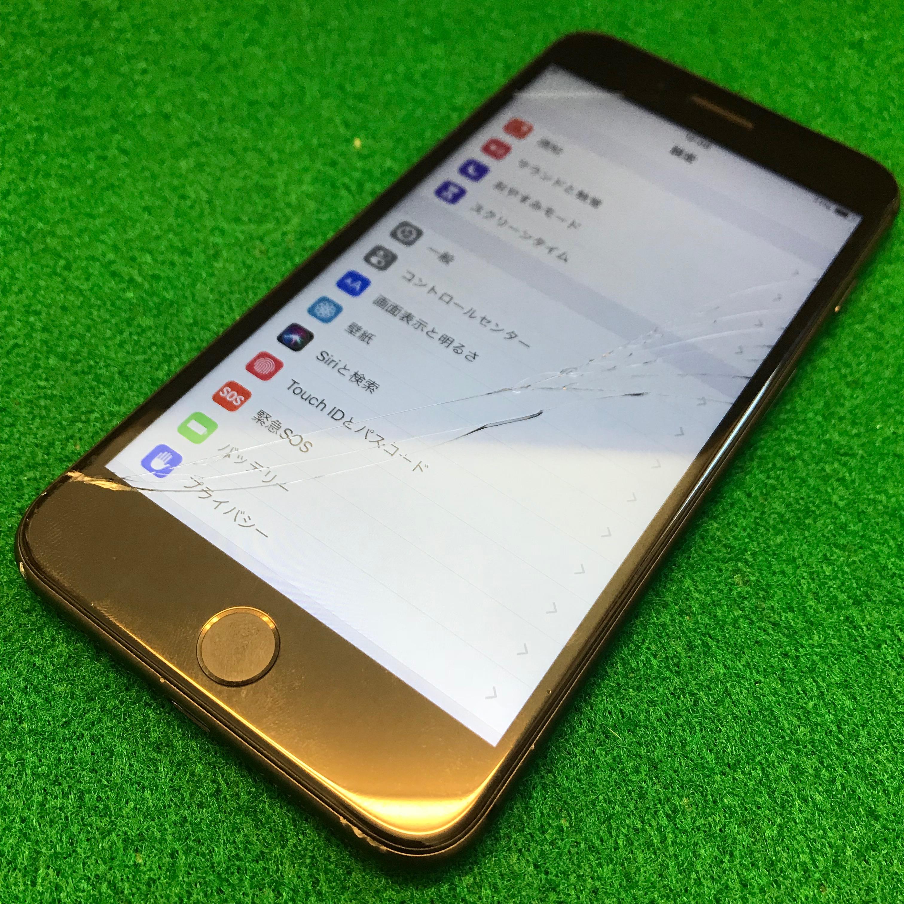 0a66b04312 iPhone6Sのガラス割れ
